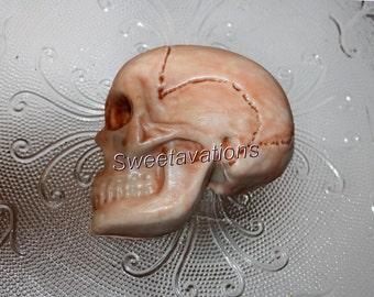 Fondant Skull Cake Toppers (Qty 2, 4) – Fondant Cake Decorations - Skull Cake Toppers – Crime Scene Toppers – Fondant Skull - Fondant Bones