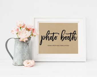 Wedding Sign Template   Photo Booth Sign   Wedding Sign   Printable Wedding Sign   5x7 & 8x10   EDN 5473