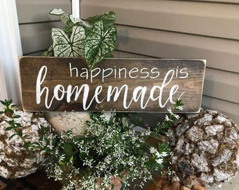 Happiness is Homemade | Rustic Wall Decor | House Warming Gift | Wedding Gift