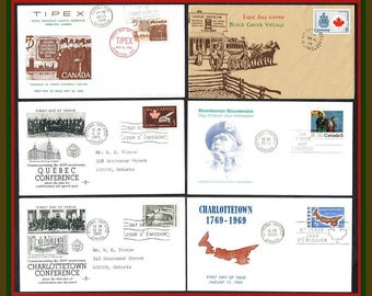 Six Canada  First Day Covers