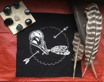 Bird skull & feathers