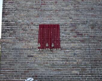 Bohemian Curtain Maroon Craze