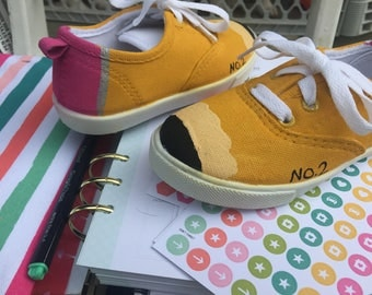 Made to order pencil shoes adult, child, toddler