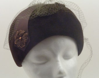 Dark Brown Vintage Hat