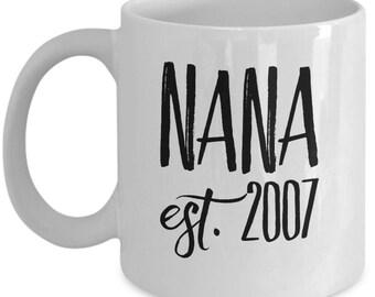 Personalized Nana Mug - Celebrate the Year She Became an Nana - 11 oz Gift Mug