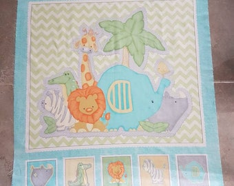 Sew your own quilt, Baby Animal Quilting Kit, Quilt kit, Baby Quilt kit
