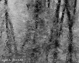Raindrops on a pond black and white abstract minimalist photography, nature photography, rain-drops, abstract photography, minimalist, dark