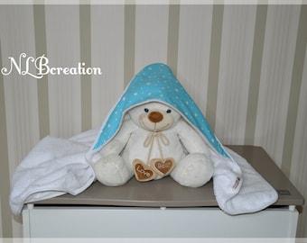 Bath capes, baby bath towel large-format, customizable bath towel