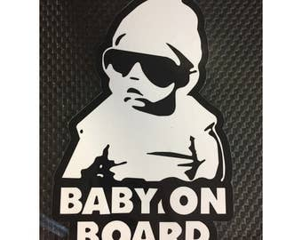 Baby On Board Decal  / Hang Over Baby Decal / baby glasses FREE SHIPPING (0091)