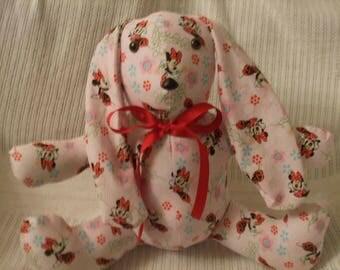 Minnie mouse rabbit, Minnie Mouse Easter rabbit, Minnie Easter Bunny, Minnie mouse toy, Minnie stuffed rabbit, Disney rabbit, free shipping