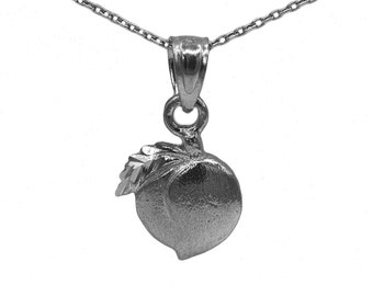 925 Black Sterling Silver Peach Necklace