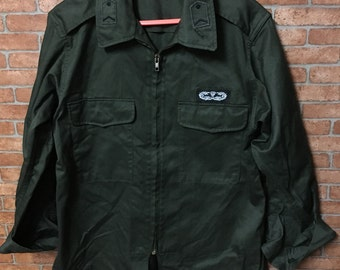 Vintage Green Korea Army Uniform Shirt