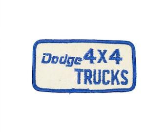 Dodge 4X4 Trucks Vintage Patch