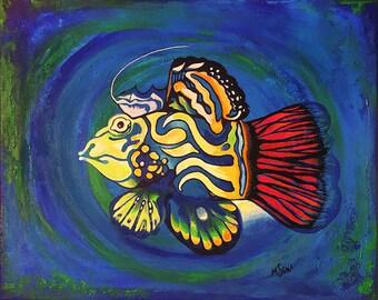 Painting: Fish by MIYUKISENA
