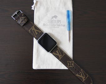 LV Monogram Straps, Apple wacth band, Apple straps, samsung watch straps