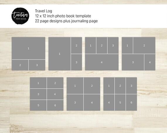 Travel album template Travel Log – Travel Log Template