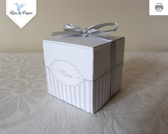 Printable gift box for your guests