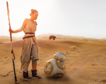 Complete Rey Staff 3d printed movie accurate
