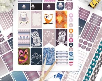 Love Owls Planner Stickers Printable, Birds, HAPPY PLANNER, Monthly/Weekly Kit, Printable Sampler, Happy planner kit, Instant download