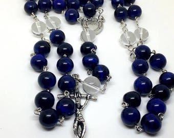 Handmade Blue Tiger Eye Rosary