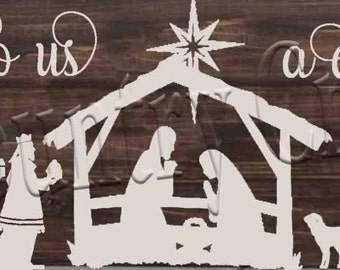 For unto us a child is born  SVG, PNG, JPEG