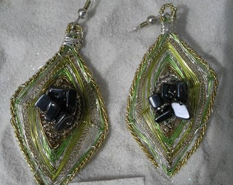 earrings with Hematite