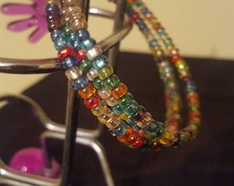 Memory Wire Bracelet - Rainbow