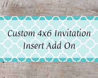 Custom Birthday Invitation Add On, Personalized Invitation, Custom Invitation, Birthday Invitation, Anniversary Invitation, Party Invitation