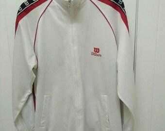 Rare Vintage WILSON Training Jacket Big Logo Size L Large
