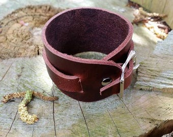 Dancety special edition leather cuff arm wristband bracer rustic fashion steampunk urban indie couture viking Hiphop International Phoenix