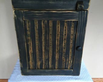 Black Wainscott Cupboard