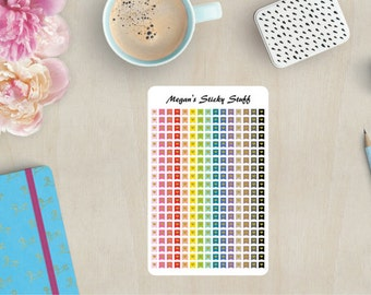 Small Heart Flags Functional Planner Stickers