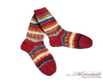 Wellness socks hand-knitted size 37-38