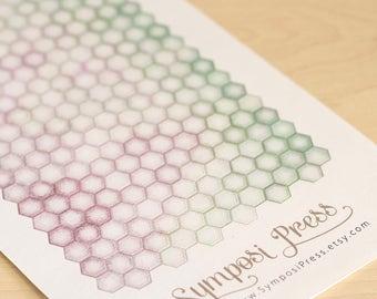 "Mini Hexagon Watercolor Planner Stickers in ""Asheville"" (Inkwell Press, Erin Condren)"