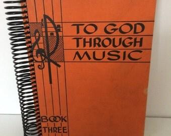 Recycled Book Diary Journal Autism Awareness
