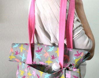 Fly Away With Me Fold Over Tote Bag