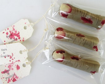Zombie Favor - zombie wedding - Halloween favor - 3D zombie finger - severed finger - edible zombie favor - zombie party favor - zombie food