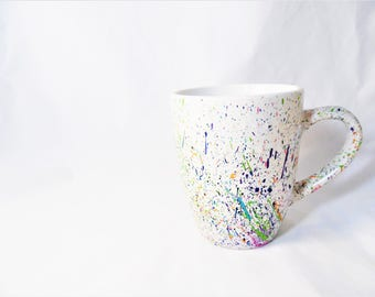 Rainbow Splatter Art Mug