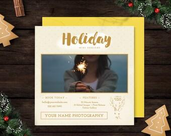Holiday Mini Session Template, Winer Mini Session, Christmas Mini Session, Marketing Template, Photography Marketing Board