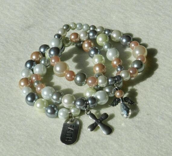 spiritual jewelry pearl bracelet charm bracelet by