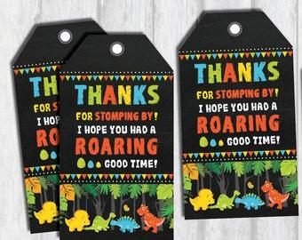 Dinosaur Favor Tags. Boy Dinosaur Thank You Tags. Dinosaur Party Printable. Baby Dinosaur Birthday Chalkboard. Thank You Card. DIN1