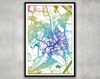 Northampton Massachusetts Map, Noho Wall Print
