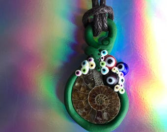 Ammonite Eye Pendant