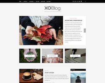 XO - Personal Blog WordPress Theme - Responsive WordPress Blog Theme - WordPress Theme - Elegant, Simple & Minimalist WordPress Theme