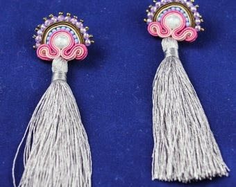 tasselled soutache earrings