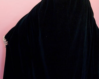 Beautiful cotton velvet cape