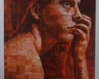 engaging her intellect poster size print - by figurative artist Anita Dewitt