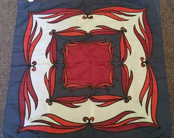 Vintage Red, White and Blue Nylon Scarf Made in Japan