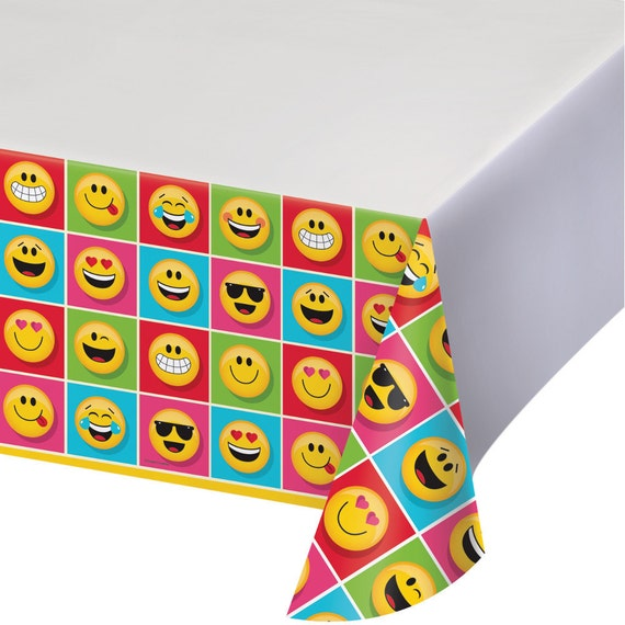 Emoji Birthday Party Tablecloth
