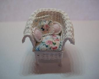 Quarter scale miniarure wicker chair